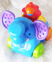 Fisher Price Amazing Animals Press Go Musical Blue Elephant Sound Music ... - $9.49