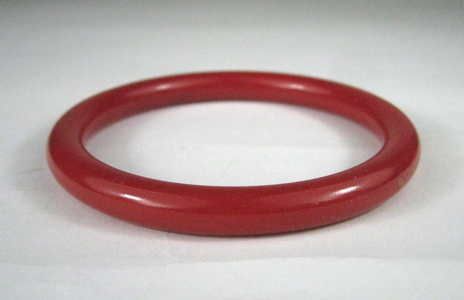 Lucite Women's Bracelet Bangle Red Cherry Spacer Size 3 3/8 Inches VTG