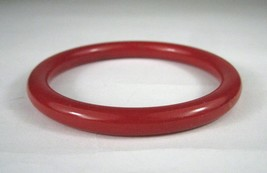 Lucite Women's Bracelet Bangle Red Cherry Spacer Size 3 3/8 Inches VTG image 1