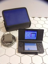 Nintendo DS Lite Cobalt Blue Handheld System + case and charger Free Shi... - $40.19