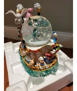 Rare Disney Mickey's 75th ANNIVERSARY STEAMBOAT RIDE Musical Lighted Sno... - $247.49