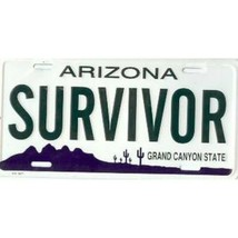 arizona survivor grand canyon state license plate usa made - $28.49