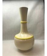 ROYAL HAEGAR MCM MID CENTURY MODERN Gourd Vase Cream & Yellow - $19.10