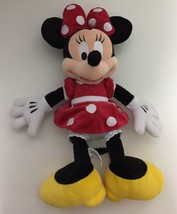 "Minnie Mouse Plush 18"" Disney Parks Stuffed Animal Lovey - $17.33"
