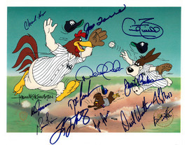 1996 NY Yankees WS Team Signed Warner Bros Animation Cell 14 sigs (10.5x12.5) De - $674.95