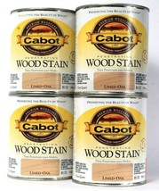 4 Cans Cabot Premium Woodcare Penetrating Wood Stain Limed Oak Color 813... - $47.99