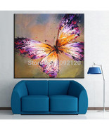 Art, Oil Painting 100% high-grade home-painted butterfly No Frame - $15.99+
