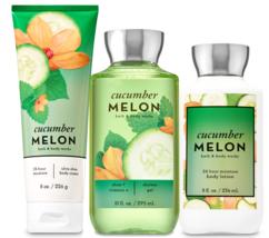 Bath & Body Works Cucumber Melon Trinity Gift Set  - $44.98