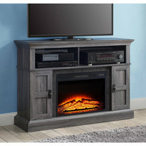 Electric Fireplace Entertainment Center TV Stand 55 Heater Remote Contro... - $312.04