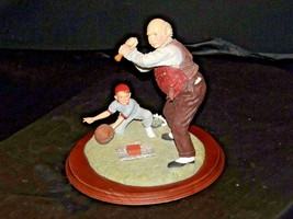 """""""Low and Outside """" by Norman Rockwell Figurine AA19-1665 Vintage image 2"""