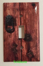 Rustic Barn Wood Door image Light Switch Outlet Wall Cover Plate Home Decor image 1
