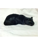 Black Panther Cat Animal Figurine - recycled rabbit fur - $34.64