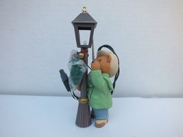 Vintage Hallmark Magic Keepsake 1993 The Lamplighter Christmas Ornament, Lights - $13.36
