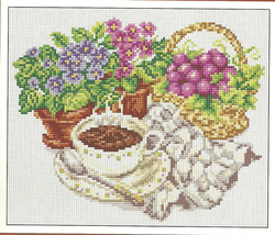 Morning coffee Cross Stitch Pattern, cup of coffee cross stitch pattern,... - $3.50