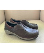 Merrell Encore Q2 Brown Leather Elastic Vamp Slip On Shoes US Womens 7.5 - $27.73