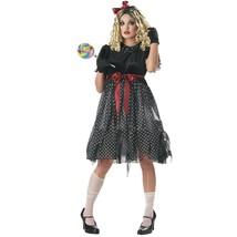 Ladies EVIL DOLL Full COSTUME DRESS & WIG Set - CA Costume NEW-Discontin... - $123.74