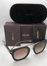 New TOM FORD Sunglasses ALEX-02 TF 541 01F 51-25 145 Black & Gold w/Brown+Mirror image 10
