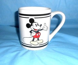Disney Mickey Mouse Mug by Gibson 3.75 inch x 10.25 inch Around - $4.94