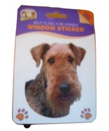 AIREDALE TERRIER DOUBLE SIDED WINDOW STICKER - $3.88