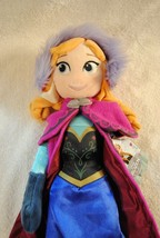 """Disney Store Frozen Princess Anna Embroidered Plush Toy Doll 20"""" Tall NWT - $22.99"""