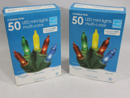 New 2 Box lot of 50 LED Mini Lights Multi-Color Christmas Energy Saver 1... - $12.95