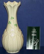"Stunning Belleek Ireland Fine Parian China Shamrocks Rock Of Cashel 8 1/4"" Vase - $37.86"