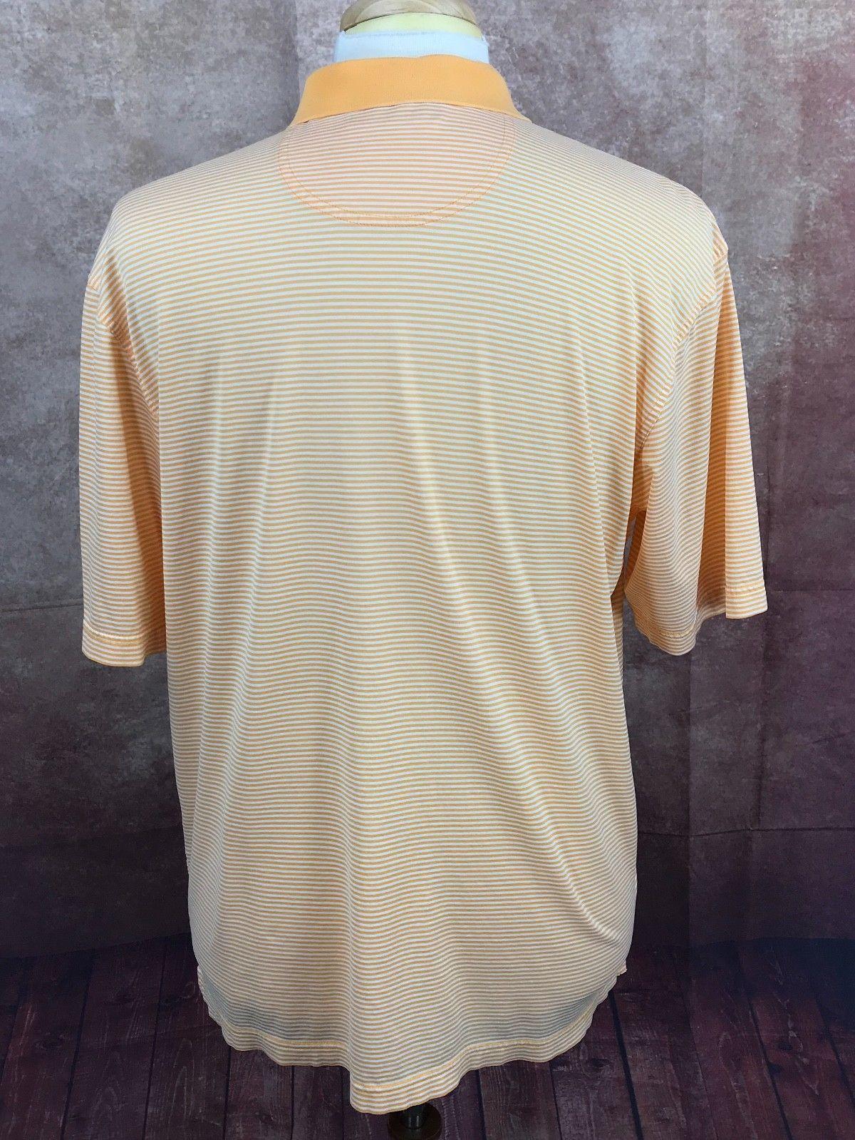 Oxford Golf Kokopelli GC Logo 100% Cotton Orange Stripe Polo Shirt Men's L