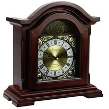 Bedford Clock Collection Redwood Mantel Clock with Chimes - $77.00