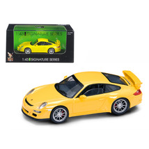 Porsche 911 997 GT3 Yellow Signature Series 1/43 Diecast Model Car by Ro... - $23.26