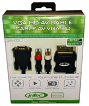 Xbox 360 Vga Hd Av Cable 8 Feet 2.4 Meters Long Black Intec G8639 New - $25.00