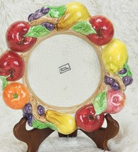Fitz & Floyd FF Fruit Fair Hurricane Lamp Base - Candle Holder Plate - 3... - $48.51