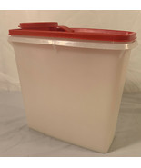 Tupperware Cereal / Pasta Keeper #469 Sheer w/ Red Top Pour Seal/Lid 13 Cup - $12.86