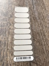 Jamberry Nails Sample Half Sheet Free Shipping Silver Grey Pinstripe Plu... - $9.74