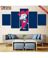Ole Miss Rebels Football Painting On Canvas Wall Art Poster Print HD - $84.95+