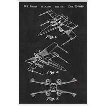 Star Wars X Wing Patent Blueprint , Toys and Games Photo Art - $11.39+