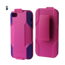 REIKO IPHONE SE/ 5S/ 5 HYBRID HEAVY DUTY HOLSTER COMBO CASE IN HOT PINK ... - $7.59