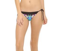 Red Carter Bikini Bottom Sz XS Black Blue Floral Side Tie Swimwear Swim ... - €19,43 EUR