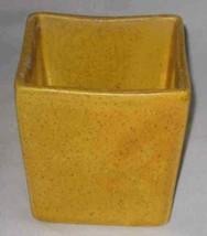 "NEAT Vintage 4"" Yellow HAEGER Pottery Square Vase 3716 - $27.89"
