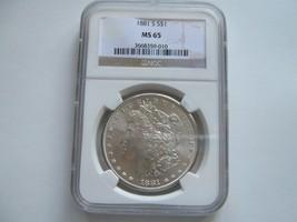 1881-S , Morgan Silver Dollar , PCGS , MS 65 - $198.00