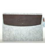 "❤️ FELTRO USA Upcycled Felt Leather Tablet Laptop Sleeve 9"" x 13.5"" NEW!... - $14.24"