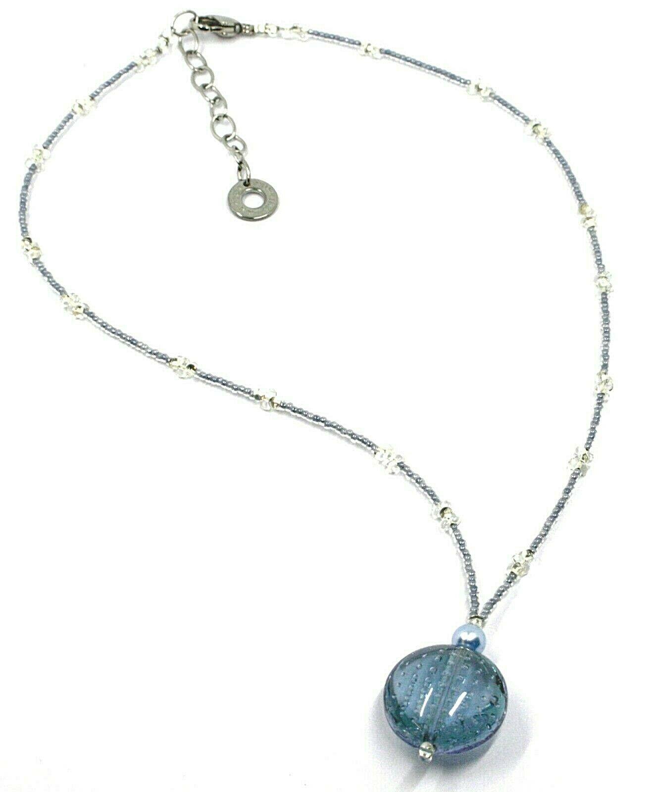 Halskette Antica Murrina Venezia, CO793A04, Disco Anhänger, Blau