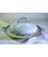 Royal Bayreuth Antique Circa 1912 Pink Floral Swags Round Covered Butter... - $20.78