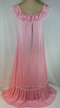 "VTG 60's  Long Nightgown SMALL PINK Lace Huge 100"" sweep UNWORN WOW! - $32.30"