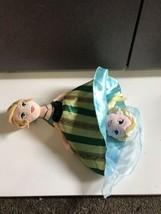 Disney Parks Topsy Turvy Frozen Anna Elsa Stuffed Plush Doll Coronation 2 in 1 - $12.24