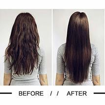 Friskylov 18 Inch Black Hair Extensions Clip in Human Hair 120g Brazilian Virgin image 5