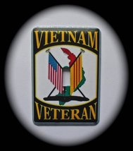 Vietnam Veterans Metal Switch Plate Military - $9.50