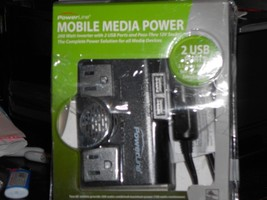 Original Powerline mobile media Power 200W DC to AC Inverter with 2 USB ... - $19.79