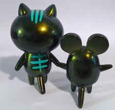 Baketan Green Shimmer Cat and Mouse Set RARE and LIMITED Set image 3