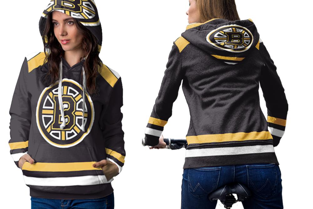 Boston bruins hockey team hoodie women