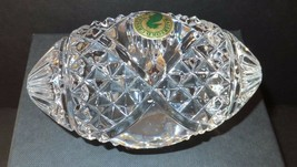 Waterford Crystal Football Paperweight Blank Panel New In Box # 7836665200 - $94.05